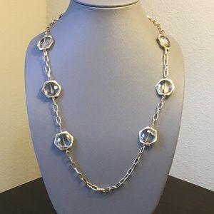 New Smokey Light Topaz Crystal Necklace